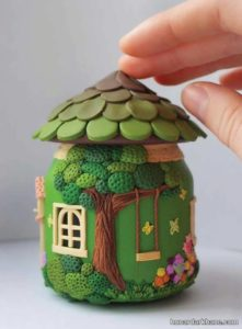 انواع کارهنری خلاقانه به شکل خانه