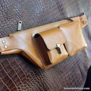 روش دوخت کیف کمری با الگویی ساده