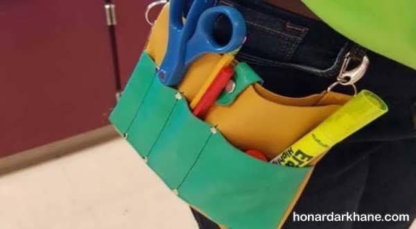 روش خیاطی کیف کمری با آموزش آسان