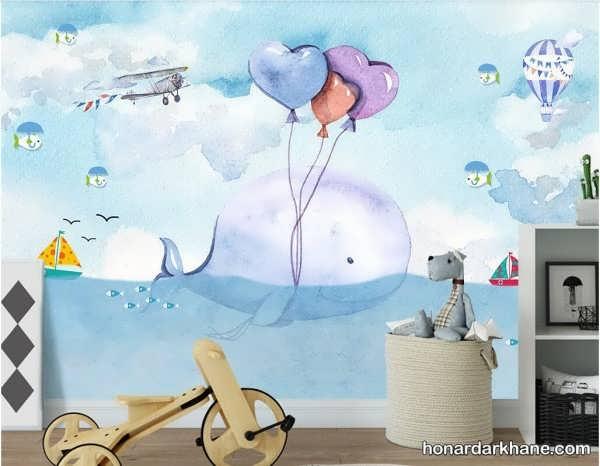 انواع تزیین جالب دیوار اتاق کودک