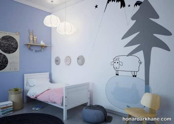 ایده های خلاقانه تزیین اتاق کودک
