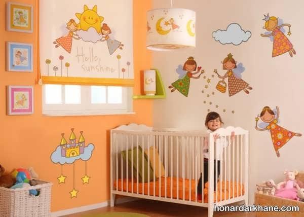 انواع دکوراسیون جذاب دیوار اتاق خواب کودک