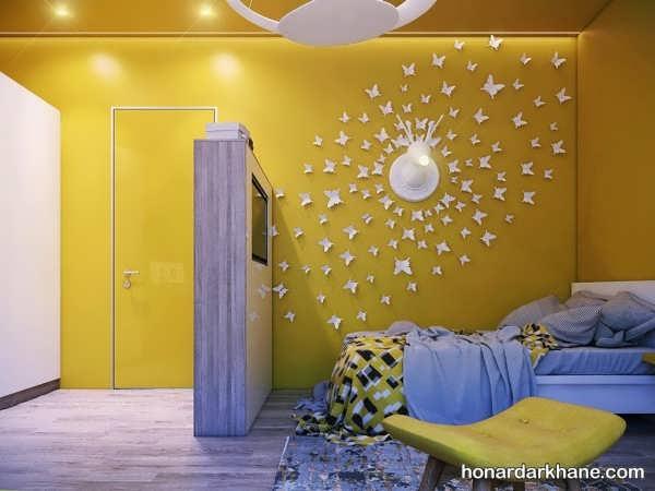 انواع تزیین جالب دیوار اتاق خواب بچه