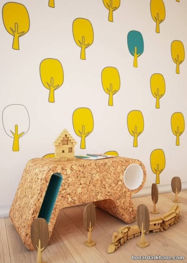 انواع زیباسازی دیوار اتاق کودک