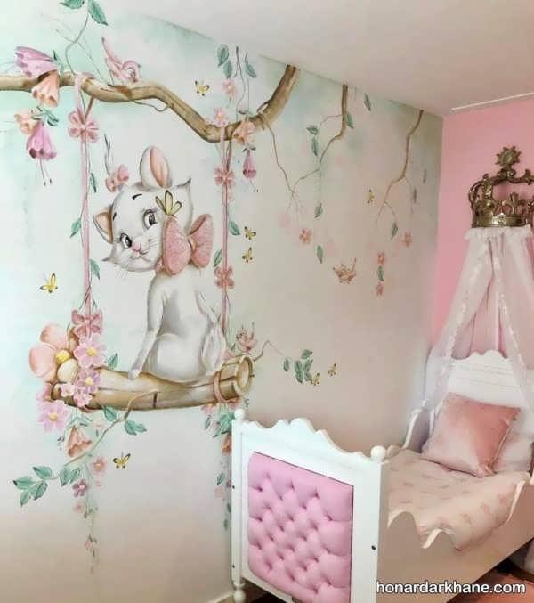 انواع تزیین اتاق کودک با نقاشی