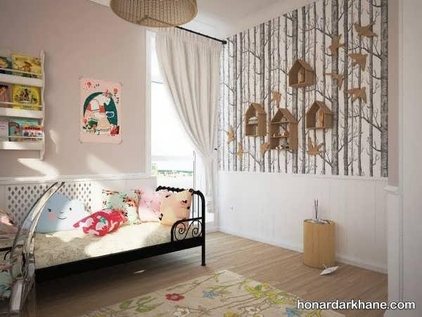 انواع طراحی جالب دیوار اتاق کودک