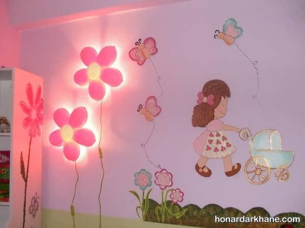 انواع تزیین زیبا دیوار اتاق کودک