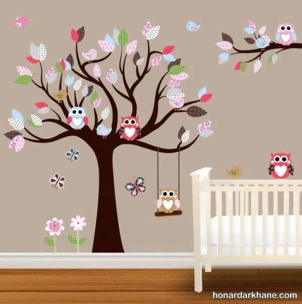 انواع دکوراسیون شیک دیوار اتاق کودک