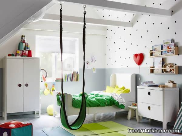 انواع زیباسازی اتاق کودک با کاغذ رنگی