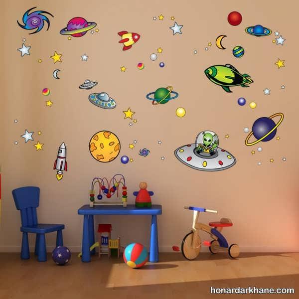 انواع تزیین دیوار اتاق کودک