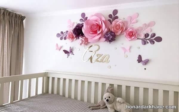 انواع دکوراسیون جدید دیوار اتاق خواب کودک