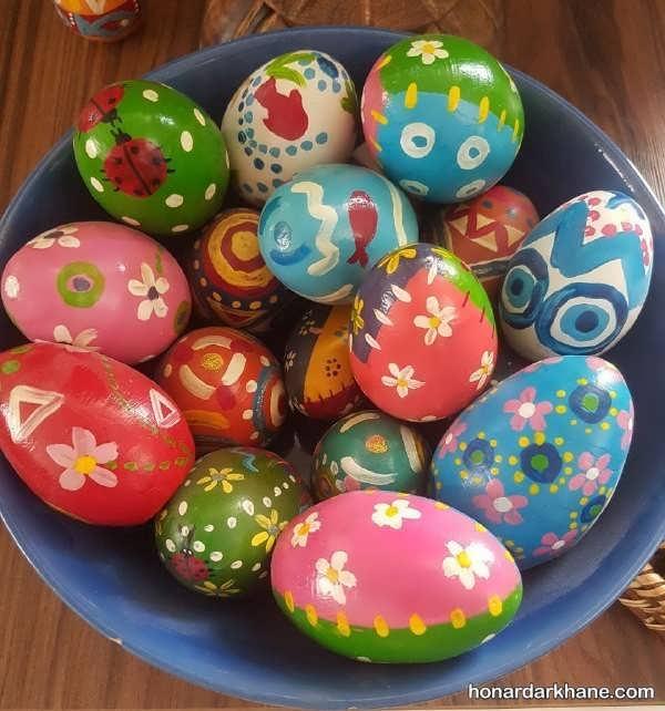 ایده های جالب برای تزیین تخم مرغ عید