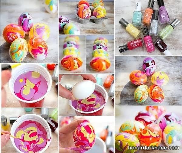 انواع روش تزیین تخم مرغ عید