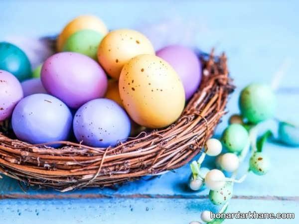نحوه تزیین تخم مرغ رنگی عید
