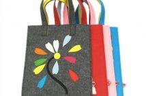 دوخت کیف ساده با نمد