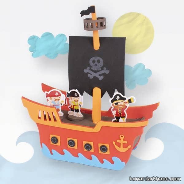 انواع کار هنری جالب به شکل قایق