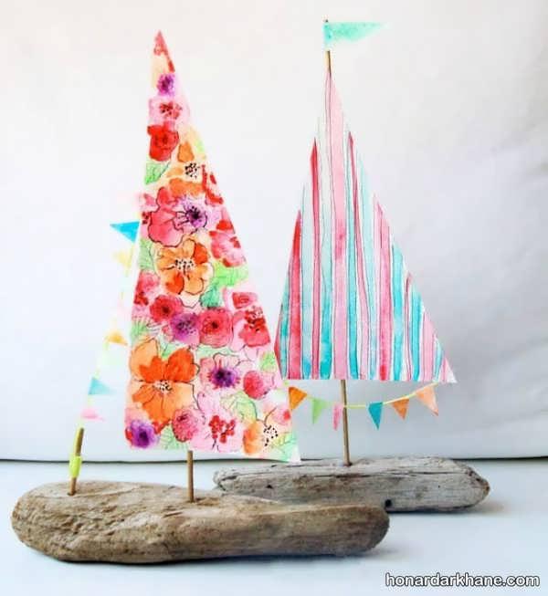 انواع هنر آفرینی به شکل قایق با ایده های جذاب