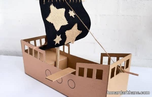 انواع کار هنری زیبا و جدید به شکل قایق