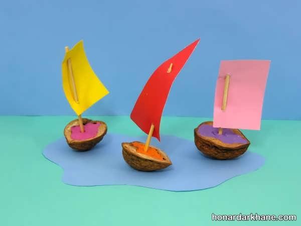 انواع کار هنری جالب و زیبا به شکل قایق