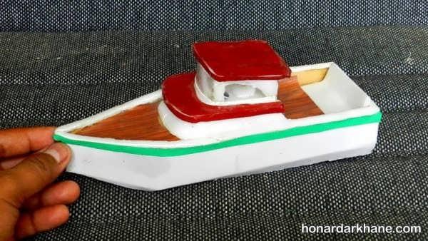 انواع کارهنری به شکل قایق با چوب بستنی