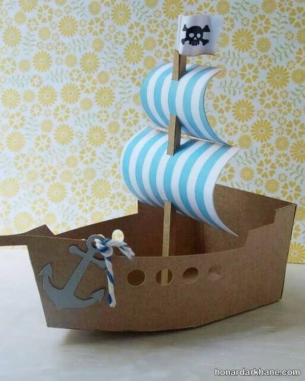 انواع کار هنری زیبا و جالب به شکل قایق