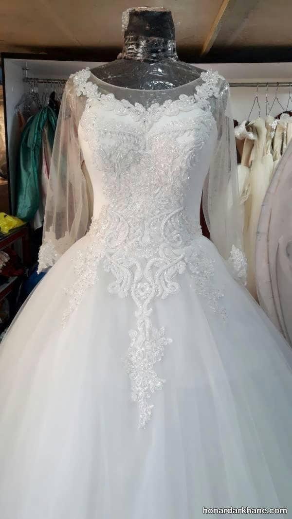انواع لباس عروس در طرح های جدید