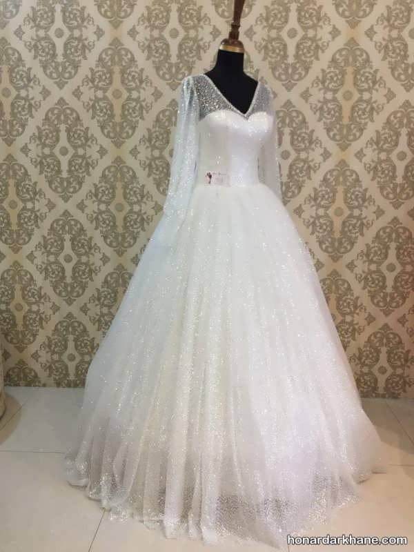 انواع لباس عروس پف دار 2020