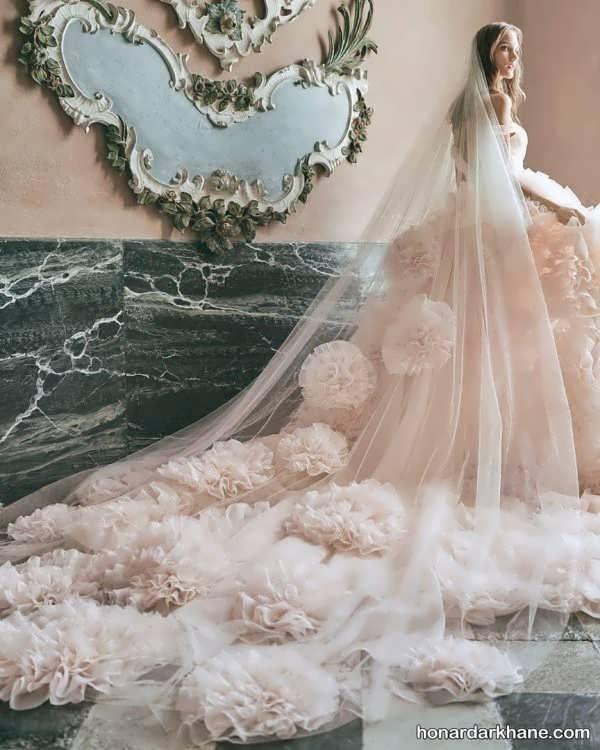 انواع لباس عروس دنباله دار 2020