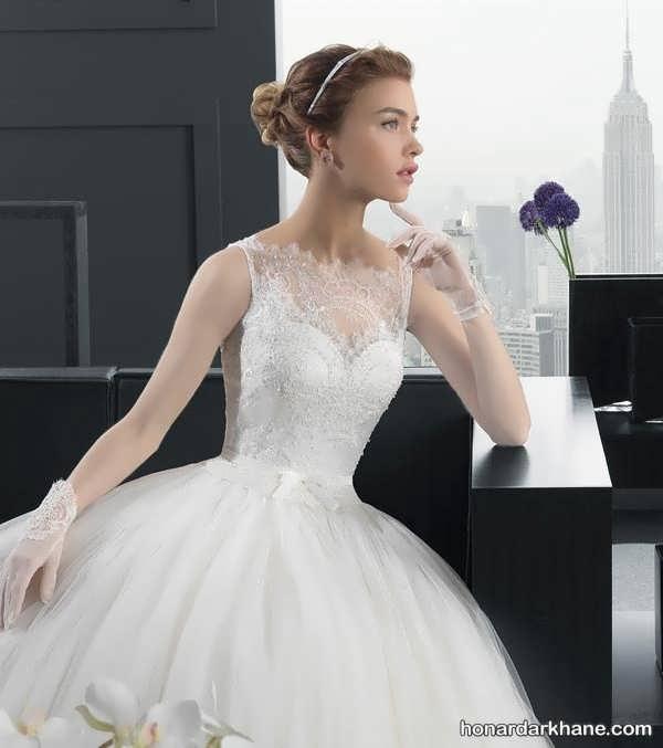 انواع لباس عروس دنباله دار