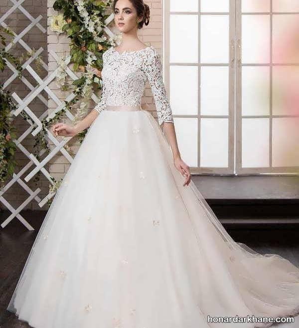 انواع لباس عروس پف دار زیبا