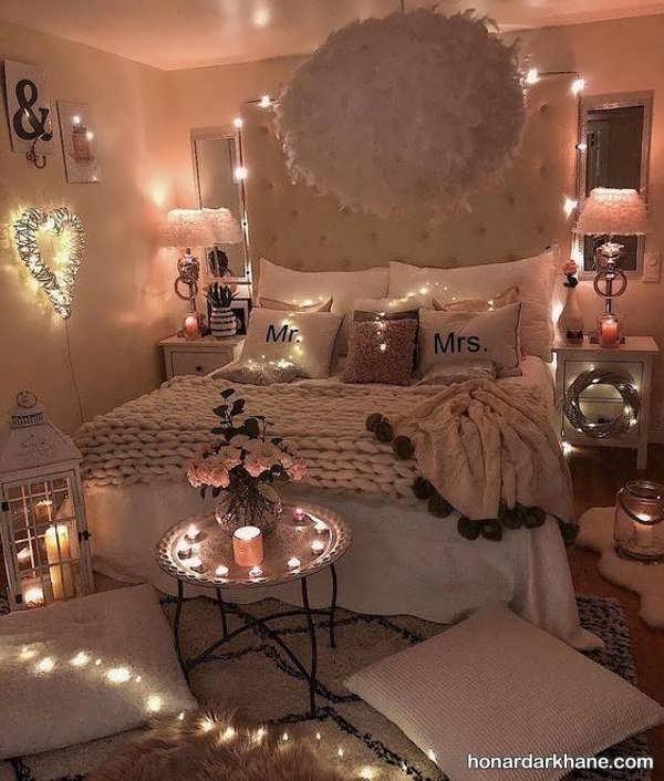 انواع دکوراسیون جدید و رمانتیک اتاق عروس