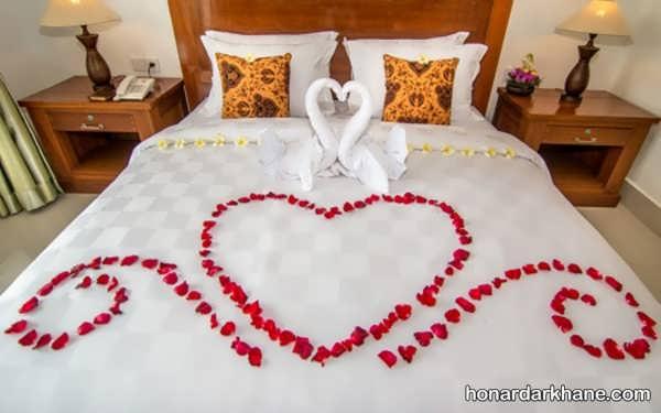 انواع دیزاین عاشقانه اتاق عروس