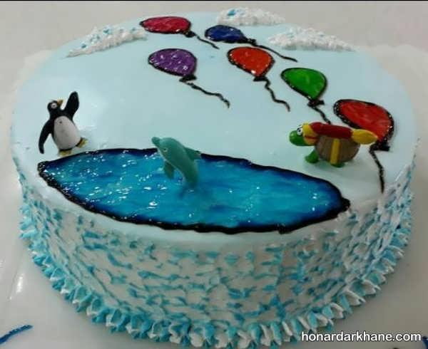انواع تزیین کیک جالب با ژله بریلو