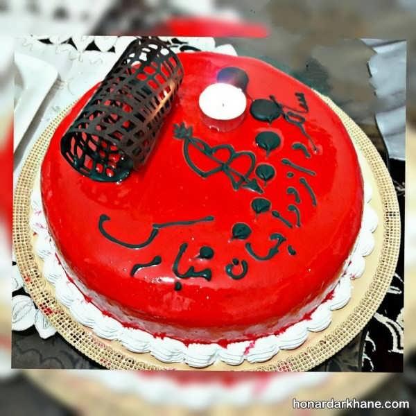 انواع دیزاین شیک کیک با ژله بریلو