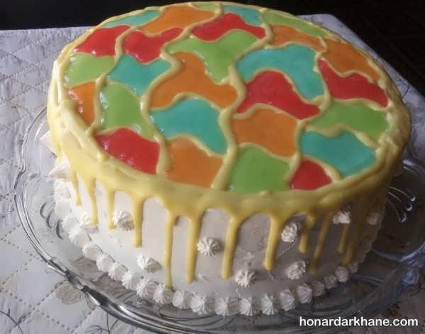 انواع کیک آرایی جالب و جدید با ژله بریلو