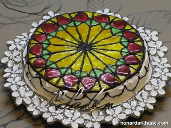 انواع کیک آرایی زیبا با ژله بریلو