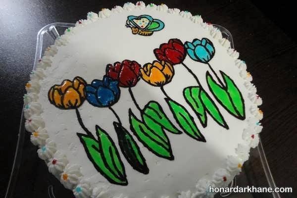 انواع تزیین شیک کیک با ژله بریلو