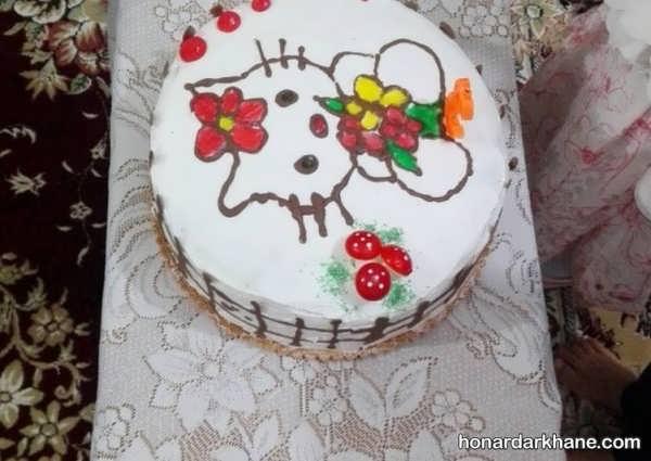 انواع کیک آرایی زیبا و جدید با ژله بریلو