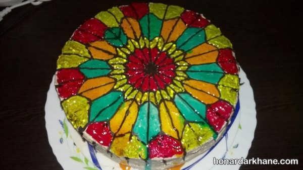 انواع دیزاین کیک شیک و جذاب با ژله بریلو