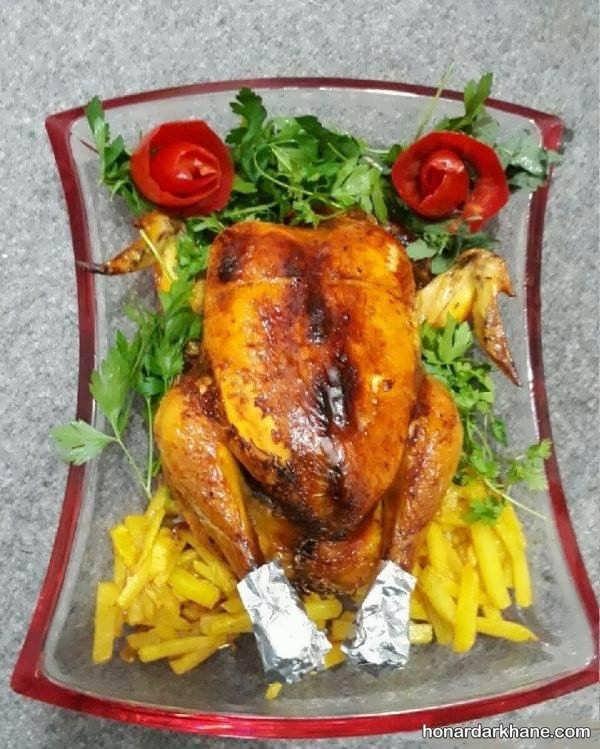 انواع تزیین مرغ به سبک های مختلف