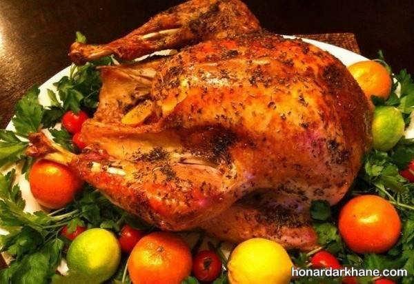 انواع گارنیش مرغ با ایده های جالب