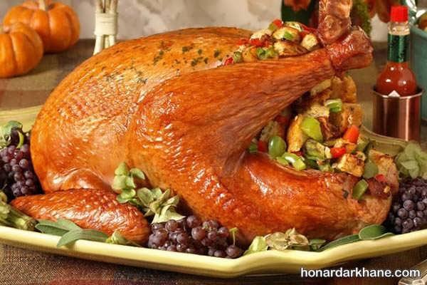 انواع دیزاین زیبا مرغ با سبزیجات