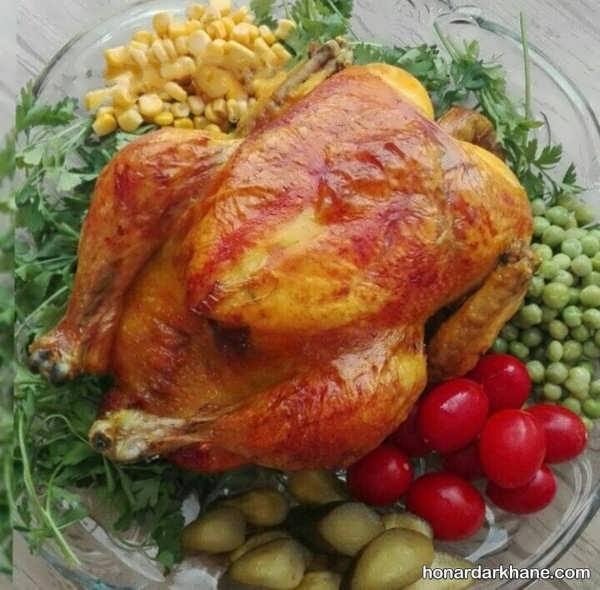 انواع تزیین مرغ به شکل های متنوع