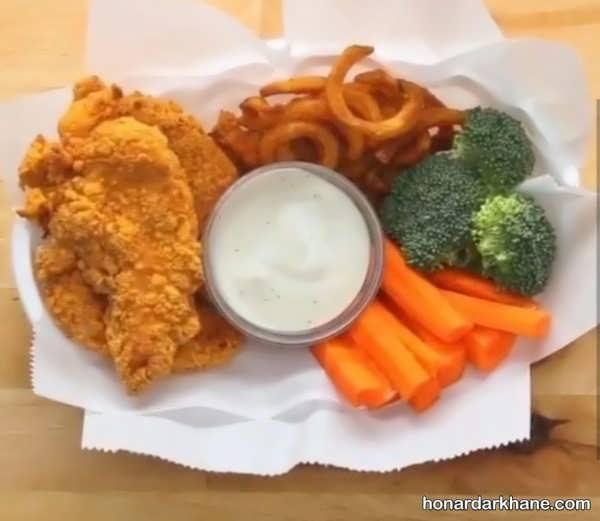 انواع دیزاین شیک و جالب مرغ با سبزیجات