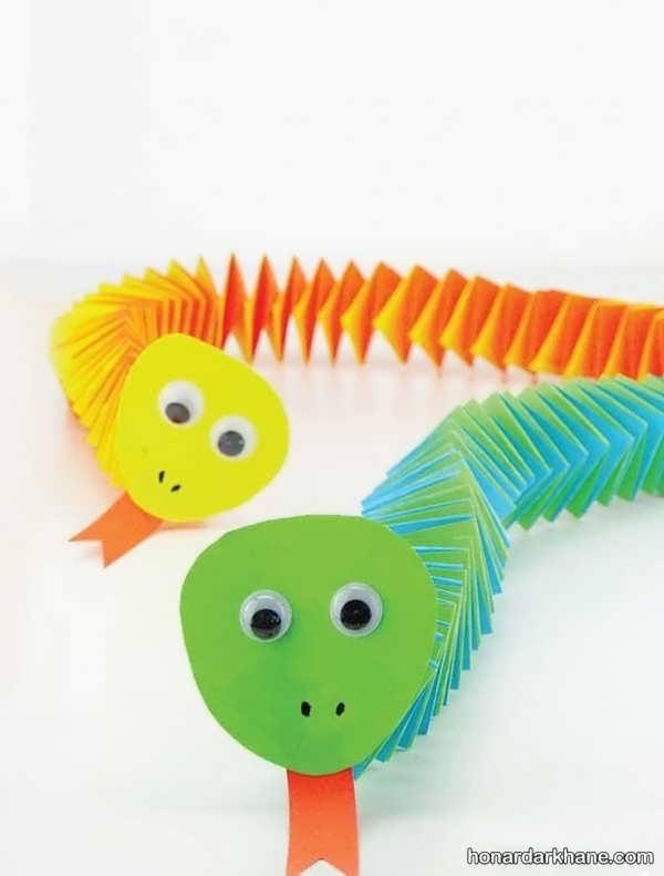 انواع هنرآفرینی جذاب کودکانه با کاغذ رنگی