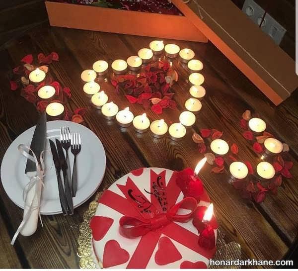مدل های زیبا و جذاب تزیین میز تولد با گل و شمع