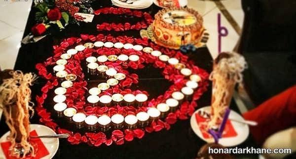 انواع تزیین بسیار زیبا و جذاب با گل و شمع