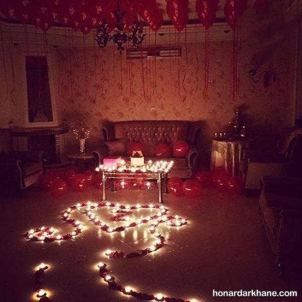 انواع دیزاین جذاب و زیبا جشن ولنتاین با شمع وارمر