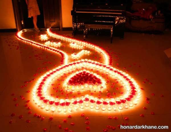 انواع دیزاین رمانتیک و عاشقانه با شمع وارمر