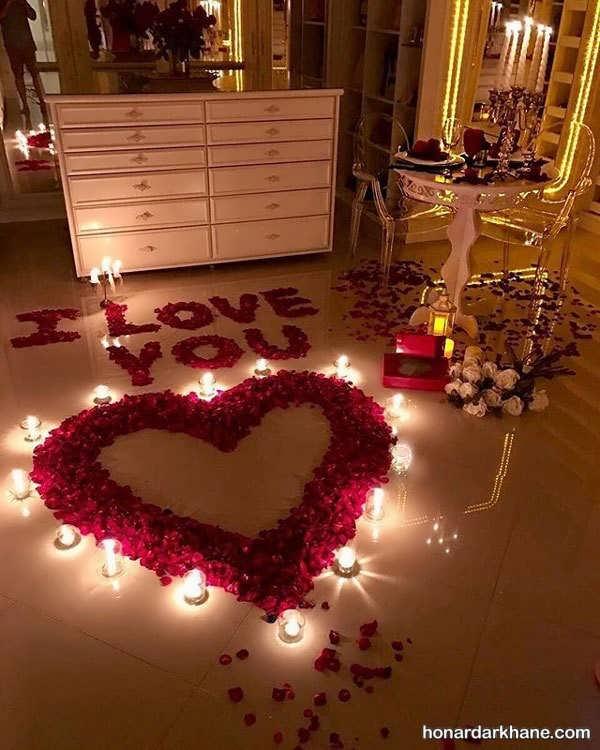 انواع تزیین عاشقانه و جذاب ولنتاین با شمع و گل